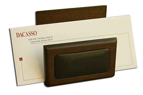 Dacasso Walnut and Leather Letter Holder ()