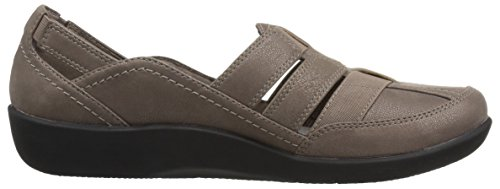 Wide Women's Us 7 Pewter Sillian 5 Synthetic Fisherman Stork Nubuck Clarks Sandal vAqdAa