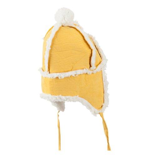 Boys' Pom Pom Polyester Trooper Hat - Mustard OSFM