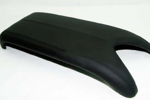Acura RDX Center Console Lid Armrest Cover Real Leather Black (Leather Part Only) by AAAUPHOLSTER