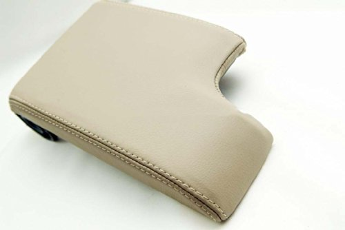 Fits 1999-2004 BMW E46 Synthetic Leather Tan Console Lid Armrest Cover (Vinyl Part Only) AAAUPHOLSTER