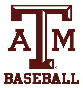 Texas A&M Aggies BASEBALL Clear Vinyl Decal Car Truck Sticker aTm TAM
