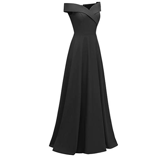 Elegant V-Neck Women Fashion Casual Solid Evening Party Dress Swing Dress Black