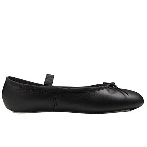 ABT - Zapatillas de danza de tela para niña Negro negro