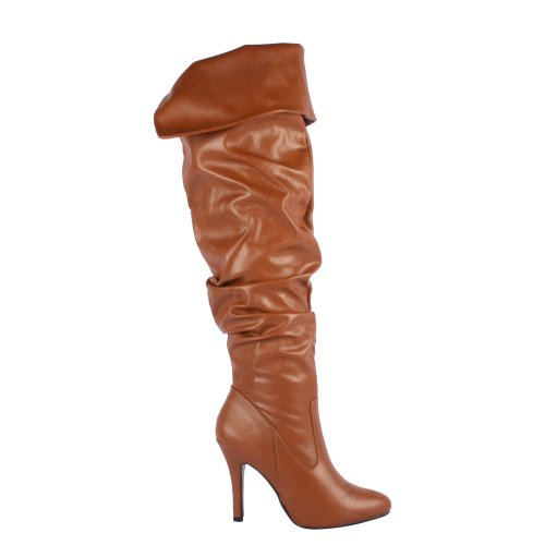 Forever Link Focus-33 Womens Fashion Stylish Pull on Over Knee High Sexy Boots PRSEq