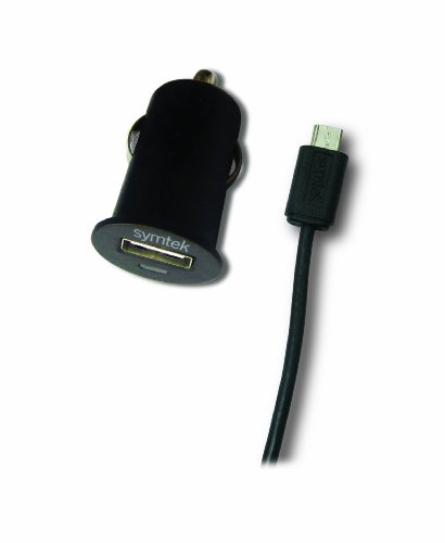 Symtek Android Devices USB Car Charger with Sync Cable, Black, TP-AND-221 by Symtek
