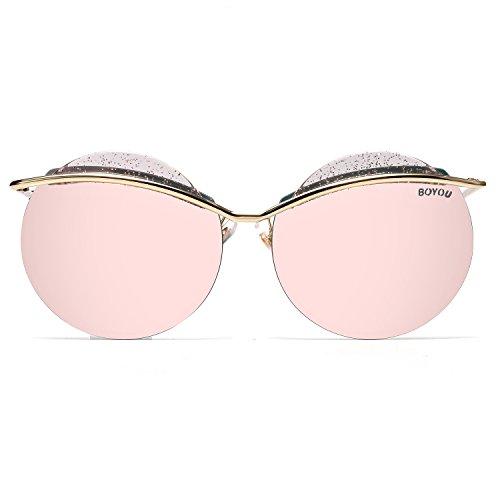 e06f046347 70%OFF BOYOU Marco de las gafas de sol del ojo de gato de metal las ...