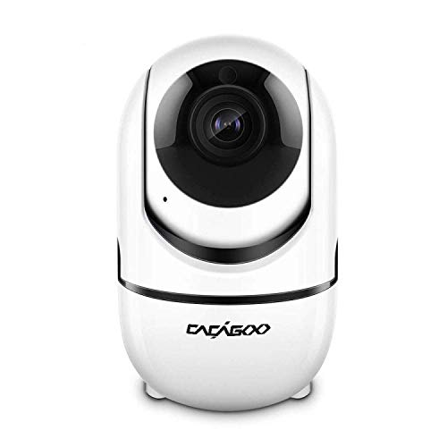 CACAGOO Video Baby Monitor with Camera and Audio, 2.4Ghz Security Wifi Camera, Home IP Camera with Night Vision/Motion Detection, Remote Monitor with iOS, Android App - Cloud Service Available (Best Android Network Monitor)