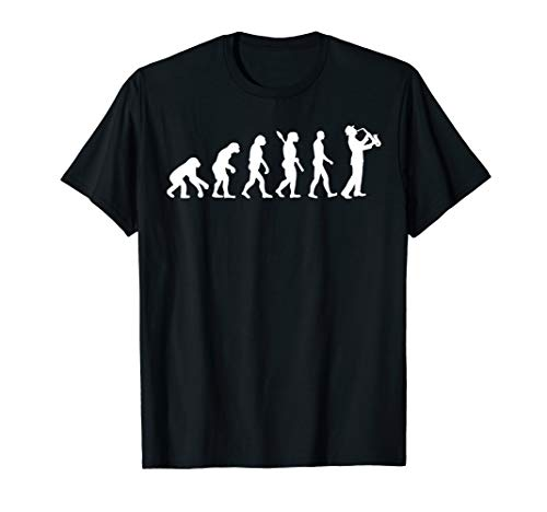 Saxophonist Evolution T-Shirt Funny Saxophone Cool Gift