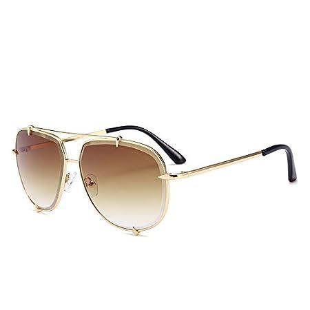 56e44838e0 Zokra -Designer Aviator Sunglasses Women 100% UVA UVB Anti Reflective Luxury  Eyewear Unisex Small Pawls Rim Glasses AT8045  Tea    Amazon.co.uk  Kitchen    ...