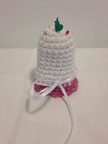 Pin Cushion Bell knit grandmother sew crochet handmade