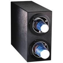 Dispense Rite CTC-S Black Polystyrene Countertop Cup Dispensing Cabinet, 16 x 8 x 23 inch -- 1 each.