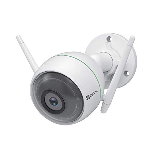 EZVIZ C3WN 1080p Outdoor WiFi Bullet Camera Weatherproof Smart Motion Detection Zone 100ft Night Vision 2.4GHz WiFi Supports MicroSD Card up to 256GB