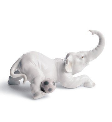 Lladro Elephant Goal Figurine - Lladro Elephant
