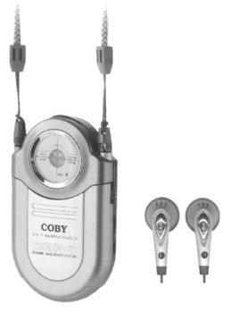 - COBY POCKET RADIO/NECK STRAP AM/FM SILVER [Electronics]