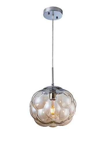 Modern Pendant Light Irregular Glass Pendant Lighting Fixture Adjustable Globe 1-Light Pendant Light for Kitchen Island…