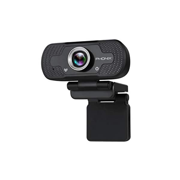 PHONIX USA HD 1080P Webcam with Microphone USB Noise Canceling Computer Web Camera Home Office Desktop
