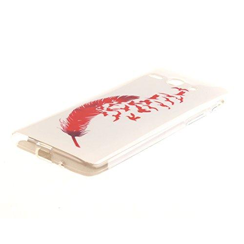 Cas Téléphone De Antichoc Cas Feather Silicone De Transparent Huawei Y530 Y530 Protection Fit Motif En Ascend Résistant Scratch TPU Peint Bord Hozor Souple Couverture Slim Arrière WIR1Zq4