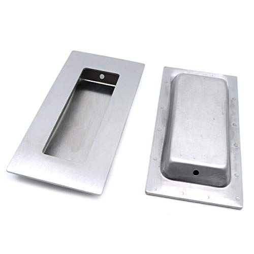 Sydien Rectangular Flush Recessed Finger Pulls Hidden Concealed Screws 4