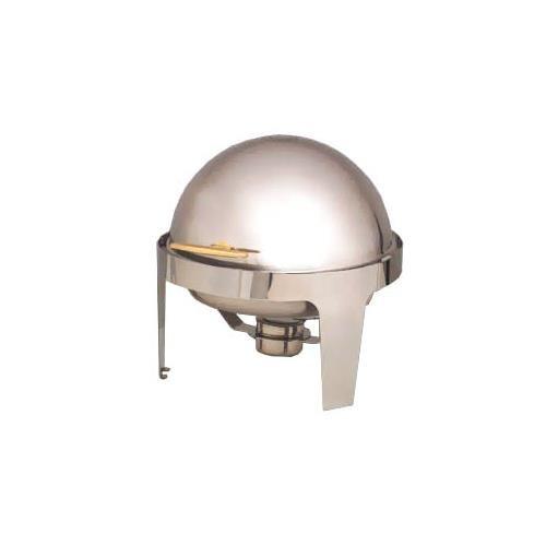 - American Metalcraft (GOLDAGRD18) 7 qt Stainless Steel Round Adagio Chafer