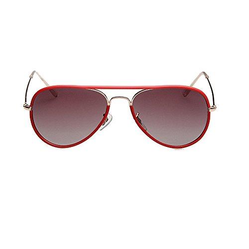 de VS003 Sol Polarizadas UV400 Protección Mujer Red Frame VeBrellen Gafas para Aviador qO7tTT