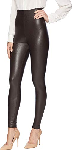 commando Women's Perfect Control Faux Leather Leggings SLG06 Espresso Large by commando (Image #1)