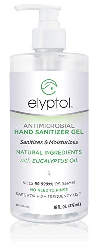 Elyptol Natural Hand Sanitizer Gel, 16oz