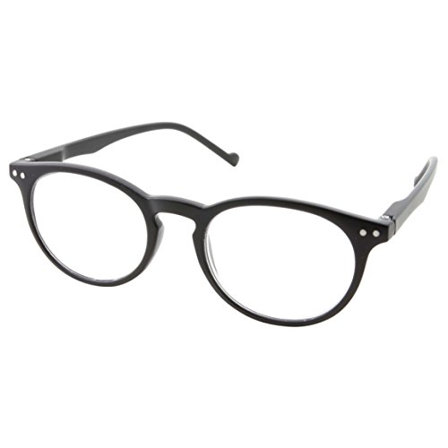High Magnification Power Strong Reading Glasses Readers +4.00 to +6.00 (Black, +6.00)