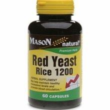 Mason vitamines levure de riz rouge 1200, 60 capsules, bouteilles (pack de 2)