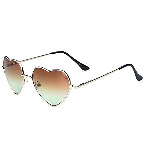 Gradient Sunglasses - TOOGOO(R)Gradient Colored Sunglasses Cute Heart-Shaped Glasses£¨color: - Sunglasses Edgars