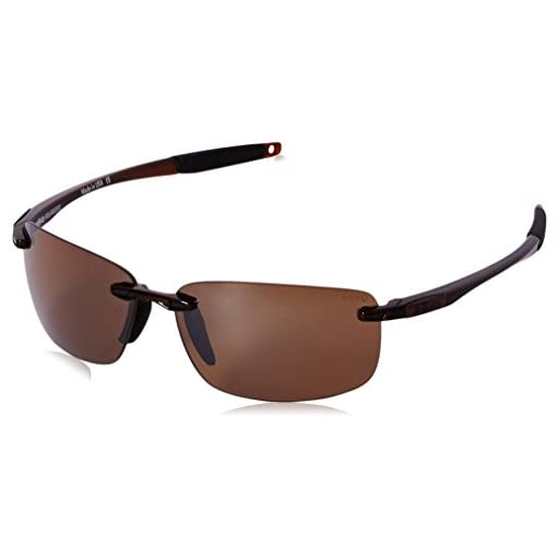 9b485ec9a78 Revo Descend N RE 4059 02 BR Polarized Rectangular Sunglasses