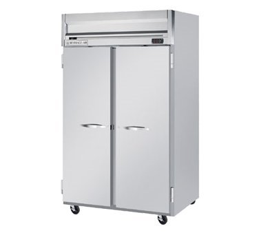 Beverage-Air HFP2-1S Horizon Series Two Section Solid Door Reach-In Freezer 49 cu.ft. Capacity Stainless Steel Front and Sides Aluminum