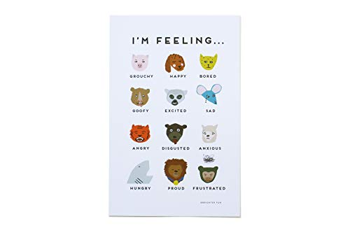 Brighter Fun Feelings Chart Children's Classroom Bedroom Nursery Poster