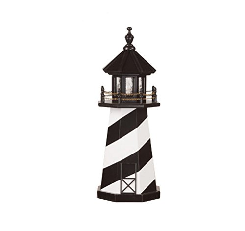 Amish Cape - Beaver Dam Woodworks 3 Foot Amish Made Cape Hatteras Wooden Lighthouse