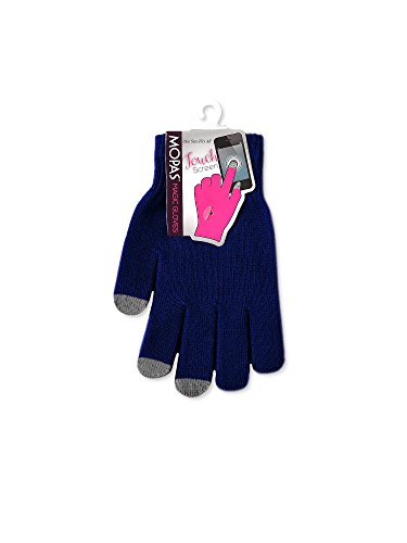Teejoy Women's Touch Screen Magic Gloves (Navy) (Lady In The Navy Gloves)