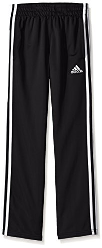 adidas Big Boys' Tricot Pant, Black, M