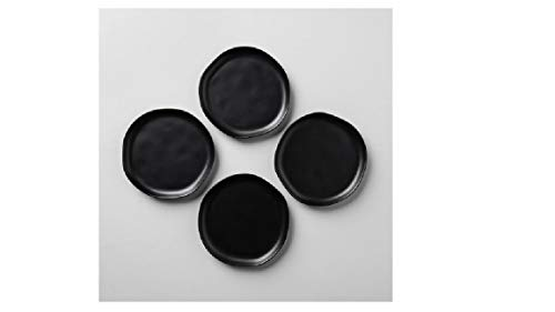 - Hearth & Hand by Magnolia Black Set of 4 Salad Plates - Chip & Joanna Gaines - Fixer Upper - Magnolia Market - Stoneware