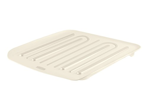 Rubbermaid Antimicrobial Drain Board, Small, Clear FG1180MACLR