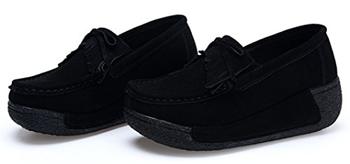 Platform Shoes Women Shoes Black Wedge Slip Flats Sneakers Comfort 12 On YZHYXS Casual TqgO65wO