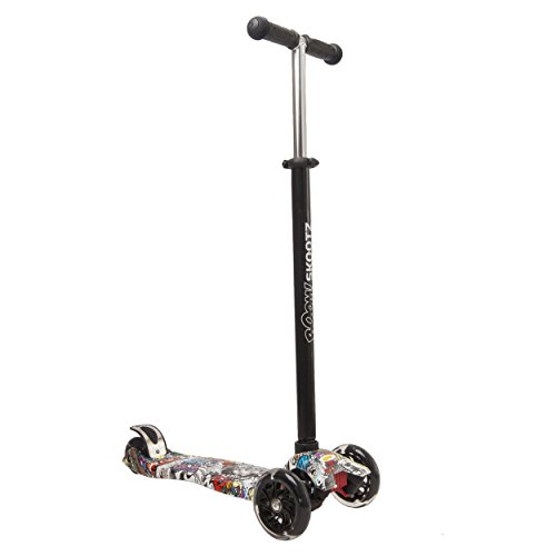 Deluxe-3-Wheel-MAXI-Scooter-Perfect-for-6-10-Year-Olds-New-2017-Designs-plus-Adjustable-Handlebars-and-Light-Up-Wheels