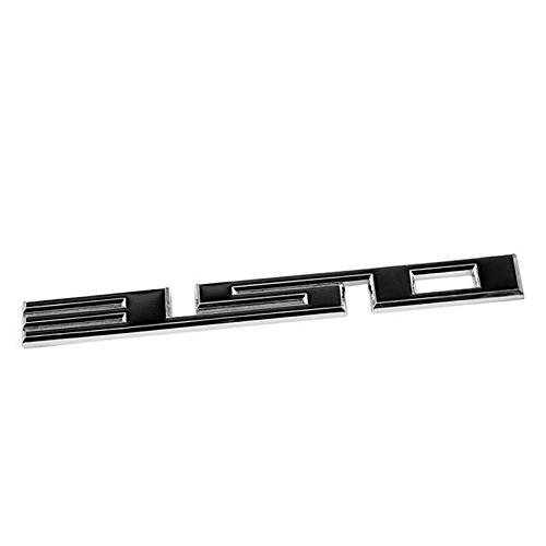 UrMarketOutlet 350 Black/Chrome Aluminum Alloy Auto Trunk Door Fender Bumper Badge Decal Emblem Adhesive Tape Sticker