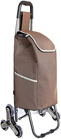 折りたたみショッピングカート、軽量食料品の買い物小物入れ折りたたみ式ポータブルトロリー家庭用荷物トレーラーG5 (色 : E)