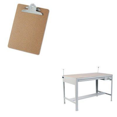 KITSAF3962GRUNV40304 - Value Kit - Safco Precision Four-Post Drafting Table Base (SAF3962GR) and Universal 40304 Letter Size Clipboards (UNV40304) - Safco Precision Drafting Table