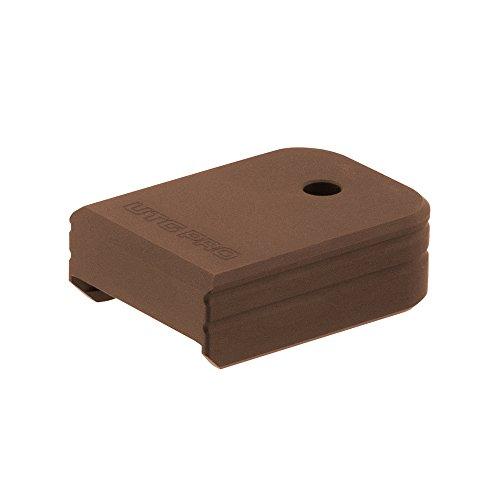 Base Plate Aluminum (UTG Pro Plus 0 Base Pad, Glock Sm. Frame, Matte Bronze Aluminum)