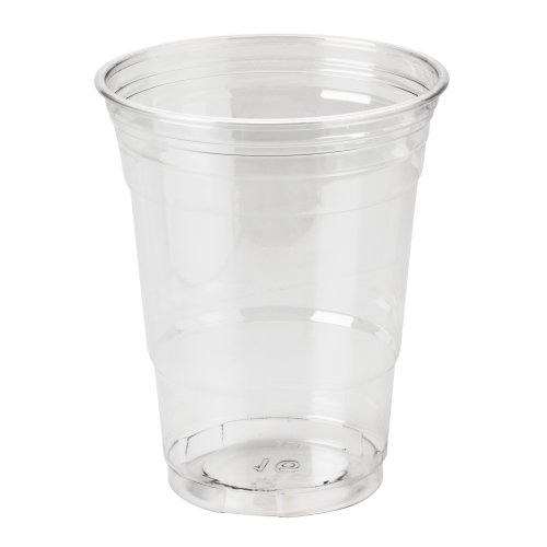 Dixie CP16DX Clear Plastic PETE Cups, Cold, 16oz, WiseSize, 25 Per Pack (Case of 20)