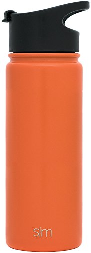 Simple Modern 18oz Summit Sports Water Bottle - Travel Mug Stainless Steel Flask +2 Lids - Wide Mouth Double Wall Vacuum Insulated Orange Leakproof Thermos -Autumn by Simple Modern (Image #4)