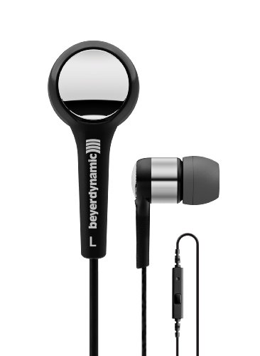 Beyerdynamic MMX 102 iE In-Ear Headphones, Black/Silver