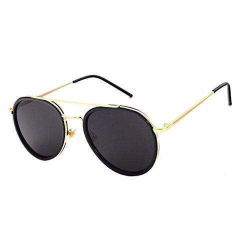 3 Gafas 3 Color De De QZ Sol Harajuku UV Vintage HOME Transparente Moda Protección Espejo Estilo Borde ZTTwqa5