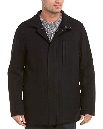 Coat Blend Wool Walking - Brooks Brothers Mens Wool-Blend Walking Coat, L, Blue