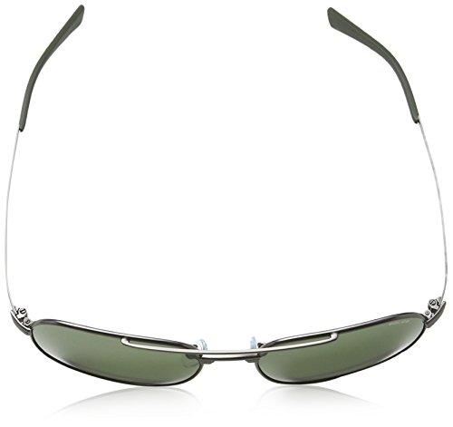 soleil Matt 1 Police S8952 Gunmetal Rectangulaire Homme Lens de Frame Rival Lunette Green q8gFOnEfg
